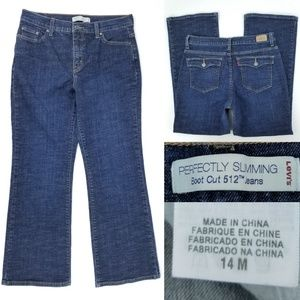 levis Perfectly Slimming Boot Cut 512 Jeans 14M